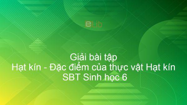 Giải SBT Sinh 6 Bài 41: Hạt kín - Đặc điểm của thực vật Hạt kín