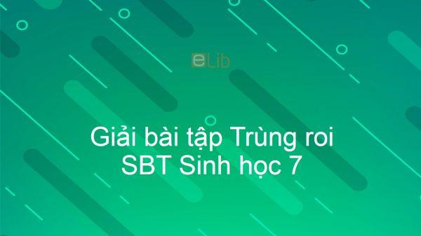 Giải SBT Sinh 7 Bài 4: Trùng roi