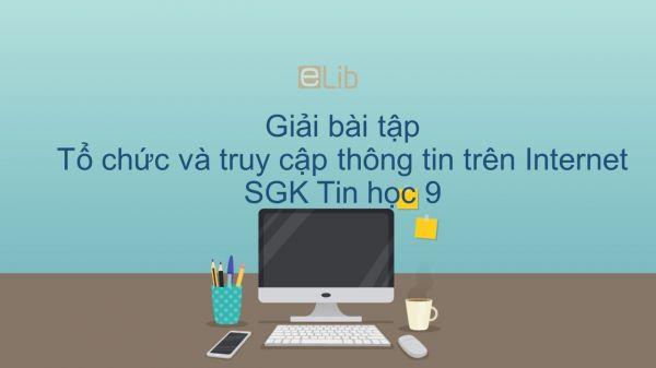 Giải bài tập SGK Tin học 9 Bài 3: Tổ chức và truy cập thông tin trên Internet