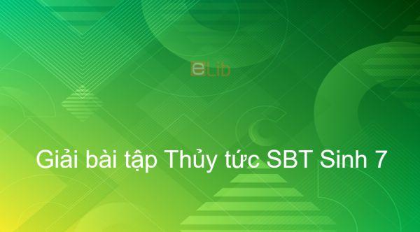 Giải SBT Sinh 7 Bài 8: Thủy tức