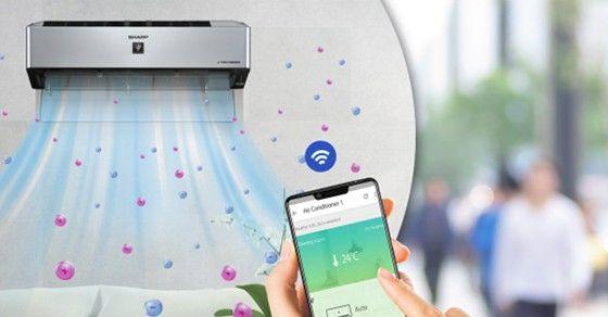 Cách điều khiển cơ bản dòng máy lạnh Sharp Wifi bằng điện thoại