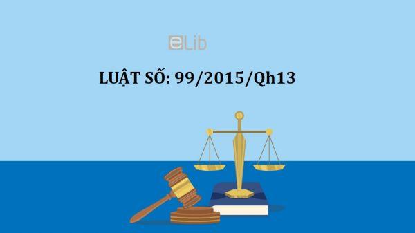 Luật tổ chức cơ quan điều tra hình sự số 99/2015/QH13