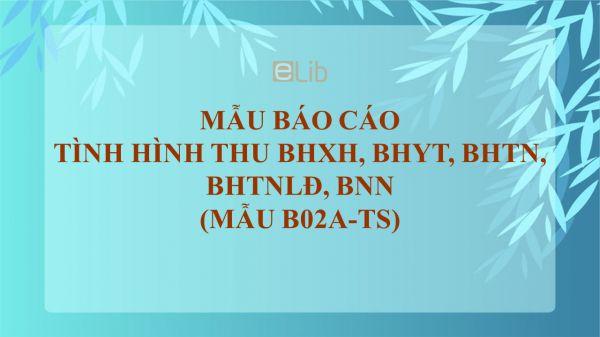Mẫu B02a-TS: Báo cáo tình hình thu BHXH, BHYT, BHTN, BHTNLĐ, BNN