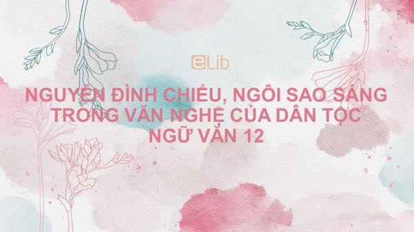 Nguyễn Đình Chiểu, ngôi sao sáng trong văn nghệ của dân tộc Ngữ văn 12