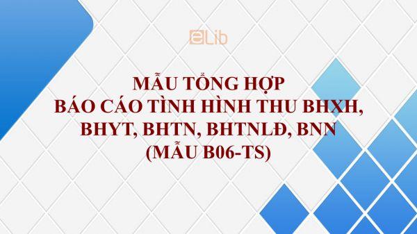 Mẫu B06-TS: Tổng hợp báo cáo tình hình thu BHXH, BHYT, BHTN, BHTNLĐ, BNN