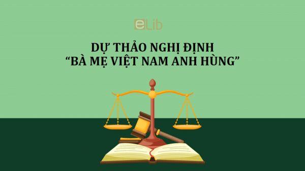 Dự thảo nghị định về biện pháp thi hành pháp lệnh quy định danh hiệu vinh dự nhà nước