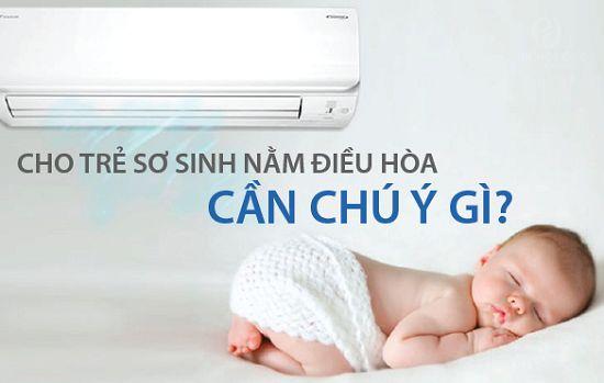 Những lưu ý cho trẻ nhỏ nằm máy lạnh, điều hòa