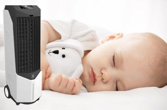 Lưu ý khi dùng quạt phun sương trong phòng điều hoà có trẻ em