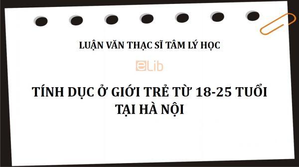 Luận văn ThS: Tính dục ở giới trẻ từ 18-25 tuổi tại Hà Nội