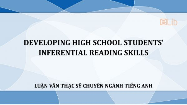 MA-Thesis: Developing high school students' inferential reading skills