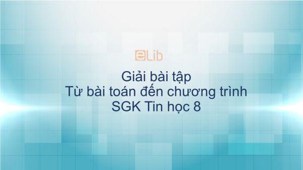 Giải bài tập SGK Tin học 8 Bài 5: Từ bài toán đến chương trình