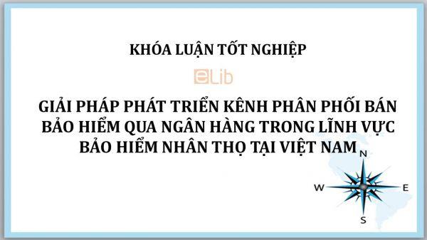 Luận văn: Giải pháp phát triển kênh phân phối bán bảo hiểm qua ngân hàng trong lĩnh vực bảo hiểm nhân thọ tại Việt Nam