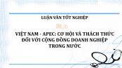 Luận văn: Việt Nam- APEC: cơ hội và thách thức đối với cộng đồng doanh nghiệp trong nước