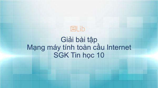 Giải bài tập SGK Tin học 10 Bài 21: Mạng máy tính toàn cầu Internet