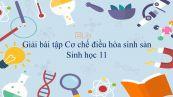 Giải bài tập SGK Sinh học 11 Bài 46: Cơ chế điều hòa sinh sản