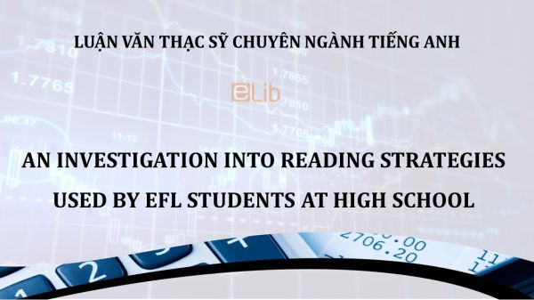 MA-Thesis: An investigation into reading strategies used by efl students at high school