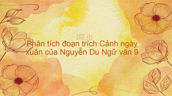 Phân tích đoạn trích Cảnh ngày xuân của Nguyễn Du