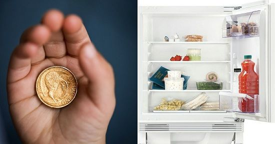 Điều bất ngờ khi cho đồng xu vào tủ lạnh