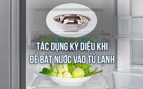 Điều đặc biệt sẽ xuất hiện khi bạn đặt bát nước trong tủ lạnh mỗi đêm