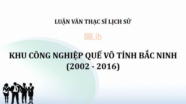 Luận văn ThS: Khu công nghiệp Quế Võ tỉnh Bắc Ninh