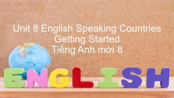 Unit 8 lớp 8: English Speaking Countries - Getting Started