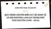Luận văn ThS: Quá trình chuyển biến cơ cấu kinh tế, xã hội phường Cam Giá thành phố Thái Nguyên