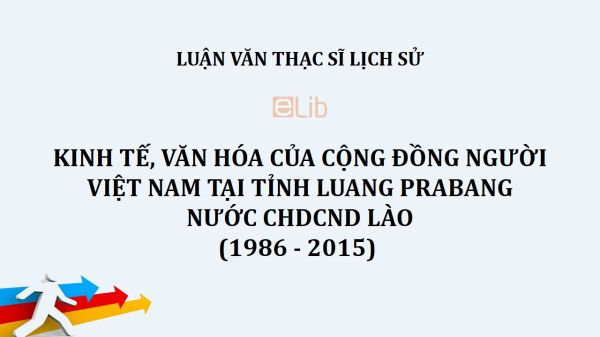 Luận văn ThS: Kinh tế, văn hóa của cộng đồng người Việt Nam tại tỉnh Luang Prabang nước CHDCND Lào