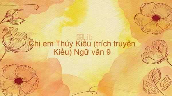 Chị em Thúy Kiều (trích truyện Kiều) Ngữ văn 9