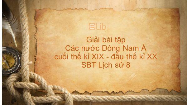 Giải bài tập SBT Lịch Sử 8 Bài 11: Các nước Đông Nam Á cuối thế kỉ XIX - đầu thế kỉ XX