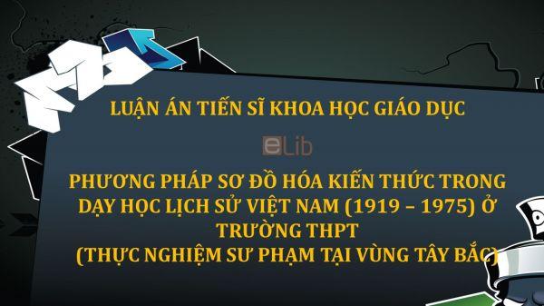 Luận án TS: Phương pháp sơ đồ hóa kiến thức trong dạy học lịch sử Việt Nam ở trường THPT