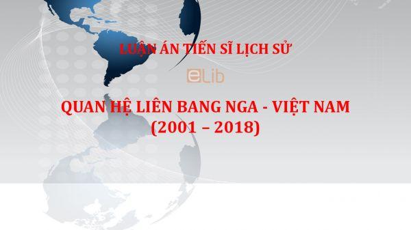 Luận án TS: Quan hệ Liên bang Nga - Việt Nam
