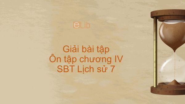 Giải bài tập SBT Lịch Sử 7 Bài 21: Ôn tập chương IV
