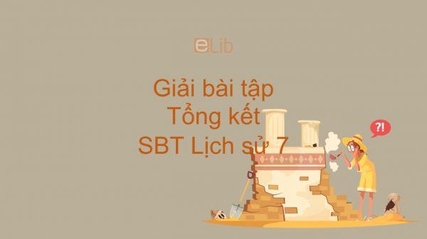 Giải bài tập SBT Lịch Sử 7 Bài 30: Tổng kết