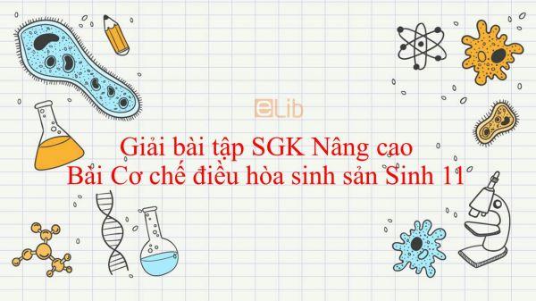 Giải bài tập SGK Sinh học 11 Nâng Cao Bài 46: Cơ chế điều hòa sinh sản