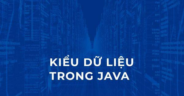 Kiểu dữ liệu trong Java