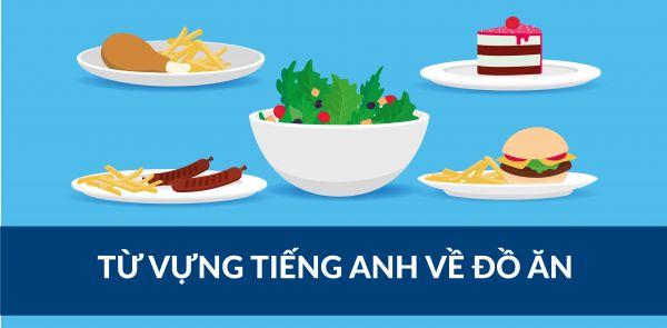 Từ vựng tiếng Anh chủ đề đồ ăn và thức uống
