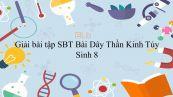 Giải bài tập SBT Sinh học 8 Bài 45: Dây Thần Kinh Tủy