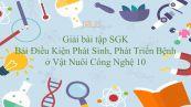 Giải bài tập SGK Công nghệ 10 Bài 35: Điều Kiện Phát Sinh, Phát Triển Bệnh ở Vật Nuôi