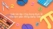 Giải bài tập SGK Toán 8 Bài 9: Ứng dụng thực tế của tam giác đồng dạng