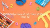 Giải bài tập SBT Toán 12 Bài 4: Hàm số mũ. Hàm số lôgarit