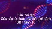Giải SBT Sinh 10 Bài 1: Các cấp tổ chức của thế giới sống