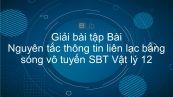 Giải bài tập SBT Vật Lí 12 Bài 23: Nguyên tắc thông tin liên lạc bằng sóng vô tuyến