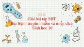 Giải bài tập SBT Sinh học 10 Bài 32: Bệnh truyền nhiễm và miễn dịch