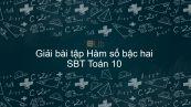 Giải bài tập SBT Toán 10 Bài 3: Hàm số bậc hai