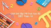 Giải bài tập SBT Toán 10 Bài 4: Hệ trục tọa độ