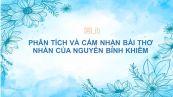 Phân tích và cảm nhận bài thơ Nhàn của Nguyễn Bỉnh Khiêm