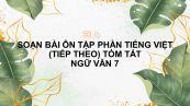 Soạn bài Ôn tập phần tiếng Việt (tiếp theo) tóm tắt