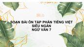 Soạn bài Ôn tập tiếng Việt siêu ngắn