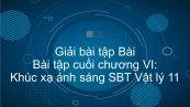Giải bài tập SBT Vật lý 11 Bài tập cuối chương VI: Khúc xạ ánh sáng