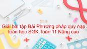 Giải bài tập SGK Toán 11 Nâng cao Bài 1: Phương pháp quy nạp toán học